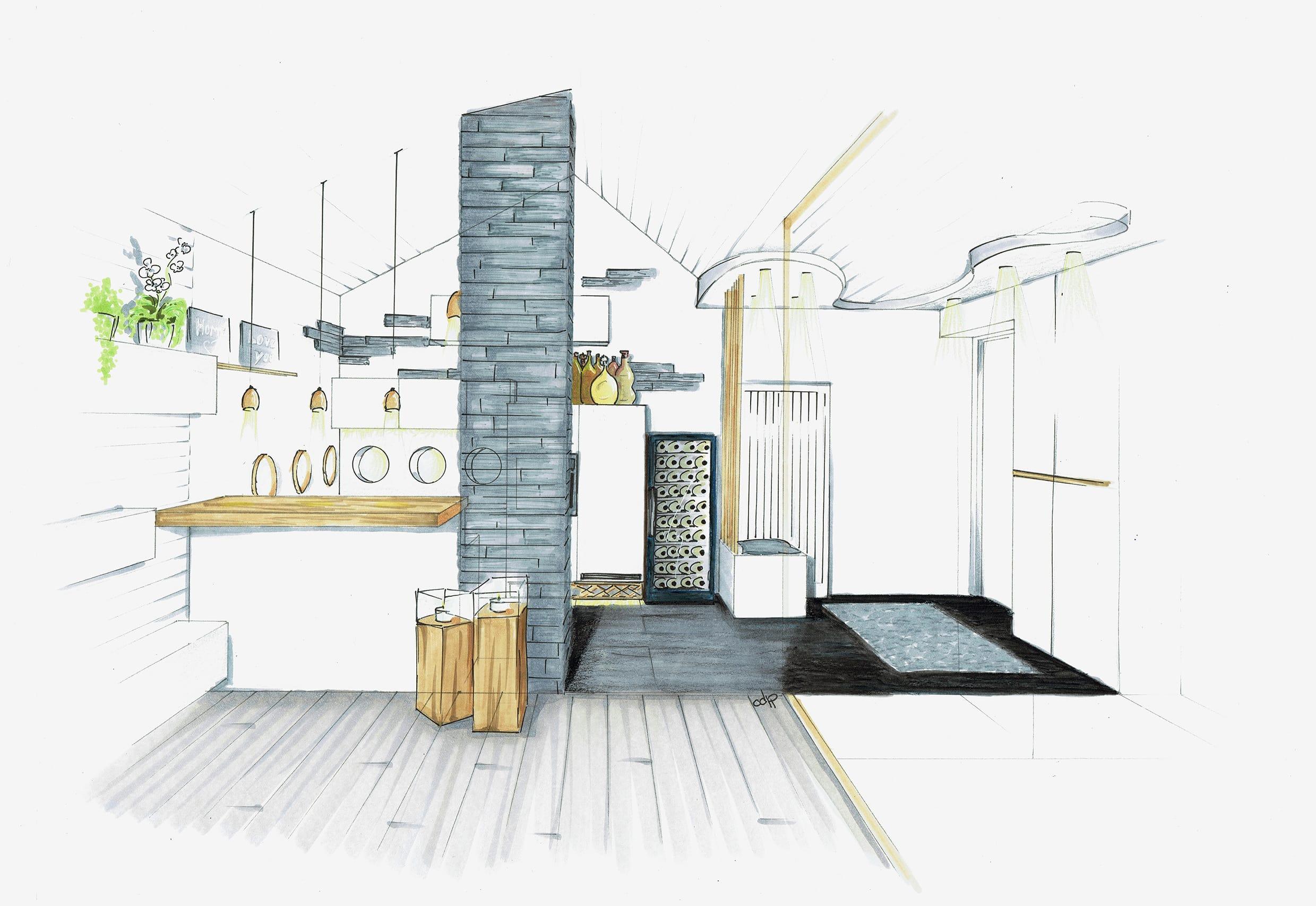 cdlp design interieur, interior designer, architecture interieur, decoration interieur, profil, croquis