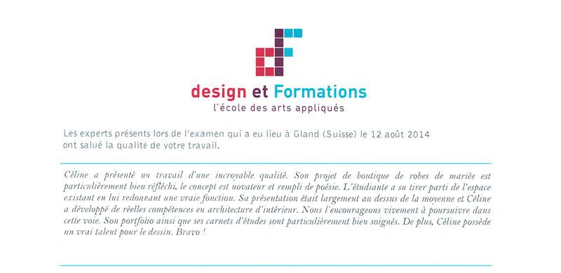 cdlp design interieur, interior designer, architecture interieur, decoration interieur, mention diplome, Ecole design et formations
